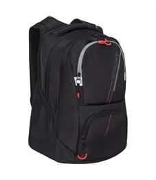 Рюкзак Grizzly, 31*43*20см, 2 отделения, 4 кармана, анатомическая спинка, черный-серый