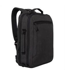 Рюкзак Grizzly, 32*43,5*12см, 2 отделения, 2 кармана, укрепленная спинка, черный