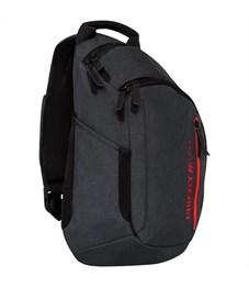 Рюкзак Grizzly, 32*46*11см, 1 отделение, 3 кармана, укрепленная спинка, 1 лямка, черный-красный