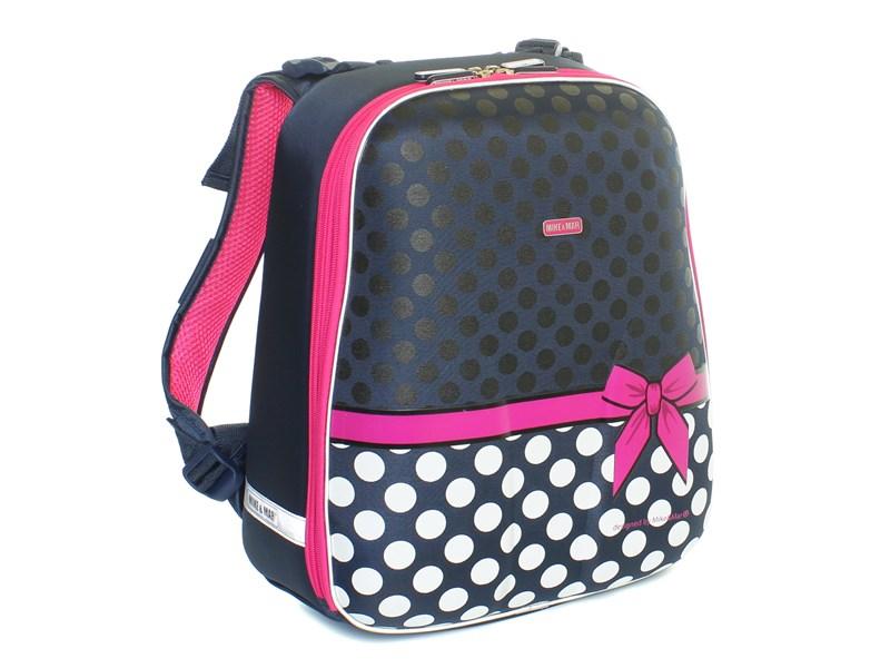 Школьный рюкзак Mike Mar Бантик т.синий-белый горох
