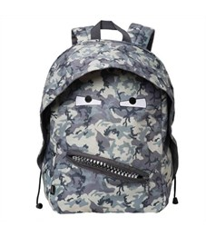 Рюкзак молодежный Zipit Grillz Backpacks серый камуфляж