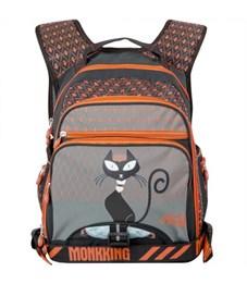 Рюкзак Monkking MK-C5061 серый-оранжевый