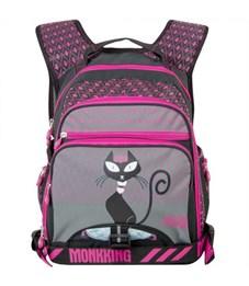 Рюкзак Monkking MK-C5061 серый-розовый