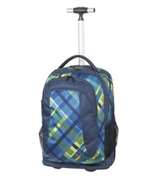Рюкзак на колесиках Trolley Walker Spin Checker синий