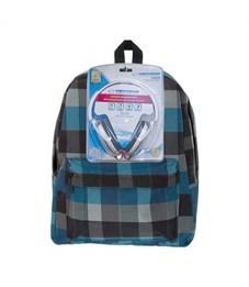 Рюкзак школьный 3D Bags Клетка с наушниками