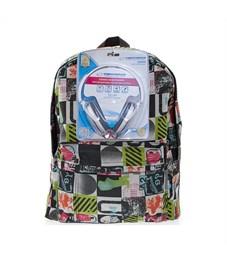 Рюкзак школьный 3D Bags Луна с наушниками