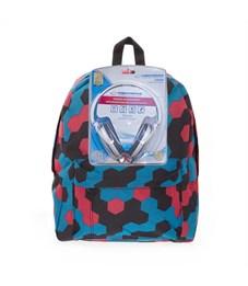 Рюкзак школьный 3D Bags Мозаика с наушниками