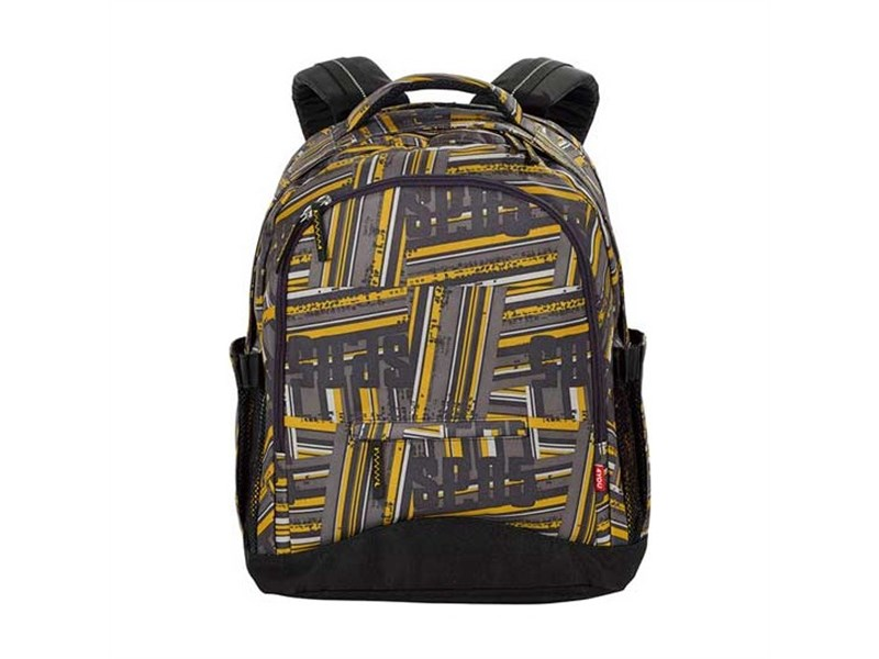 Рюкзак школьный 4YOU Compact Желто-серые полосы