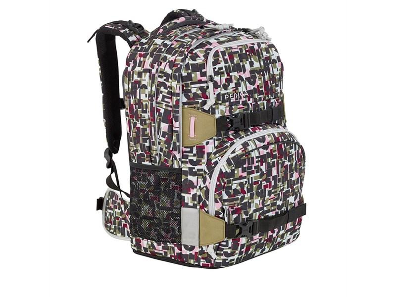 Рюкзак школьный 4YOU Pekka Geometric Sheen