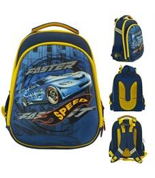 Рюкзак школьный ACTION! AB11092/1 сине-желтый