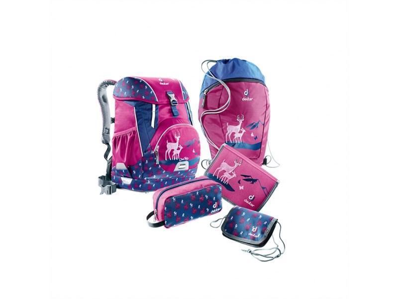Рюкзак школьный Deuter OneTwo Пурпурный олень с наполнением