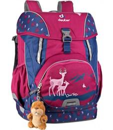 Фото 3. Рюкзак школьный Deuter OneTwo Пурпурный олень с наполнением