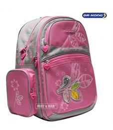 """Рюкзак школьный Dr. Kong """"Птичка"""" розовый"""
