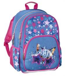 Рюкзак школьный Hama Crazy cat синий/розовый