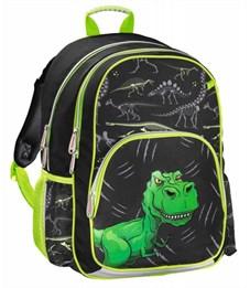 Рюкзак школьный Hama Dino черный/зеленый