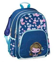 Рюкзак школьный Hama Lovely girl синий/голубой