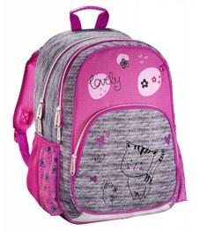 Рюкзак школьный Hama Lovely cat серый/розовый
