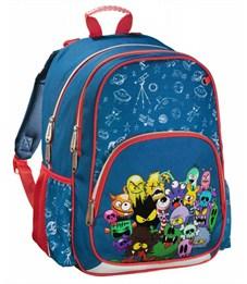 Рюкзак школьный Hama Monsters синий/красный