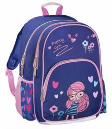 Рюкзак школьный Hama Pretty girl синий/розовый