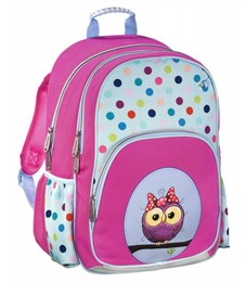 Рюкзак школьный Hama Sweet owl розовый/голубой
