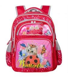 Рюкзак школьный Across Котёнок и бабочки