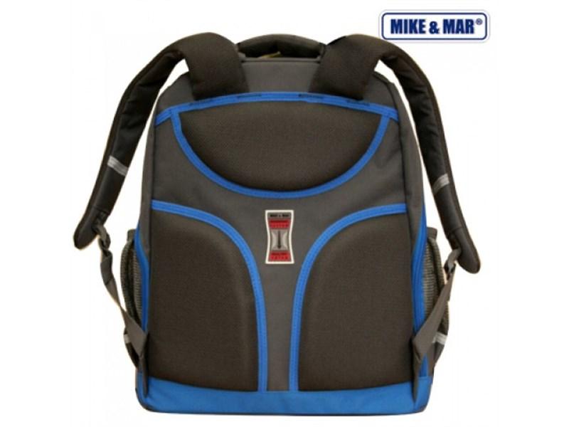 Ранец школьный Mike&Mar серый с синим кантом