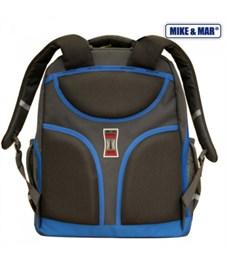 Фото 2. Ранец школьный Mike&Mar серый с синим кантом