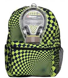 Рюкзак школьный Mojo Hypnocheck Lime с наушниками