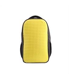 Рюкзак школьный пиксельный для ноутбука Upixel Full Screen Biz WY-A009 Желтый