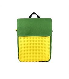 Рюкзак школьный пиксельный Upixel Canvas Top Lid WY-A005 Зеленый-желтый