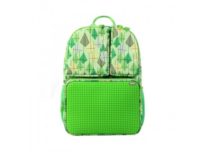 Рюкзак школьный пиксельный Upixel Joyful Kiddo WY-A026 Зеленый с рисунком