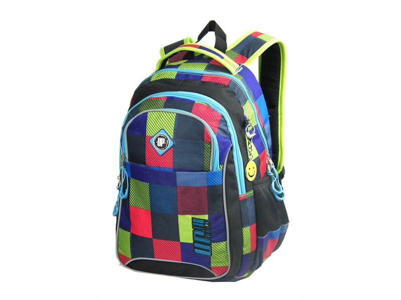 Рюкзак школьный Ufo people Сине-красная клетка