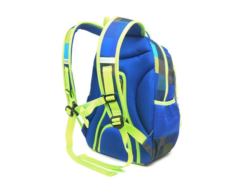 Рюкзак школьный Ufo people Сине-серая клетка
