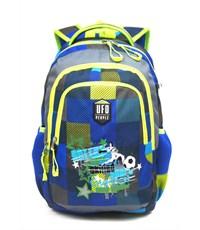 Фото 2. Рюкзак школьный Ufo people Сине-серая клетка