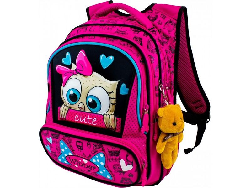 Рюкзак школьный Winner 8028 + брелок-мишка