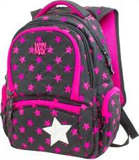 Рюкзак WinMax К-374 черно-розовый