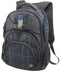 Рюкзак WinMax К-507 черный с синими полосками