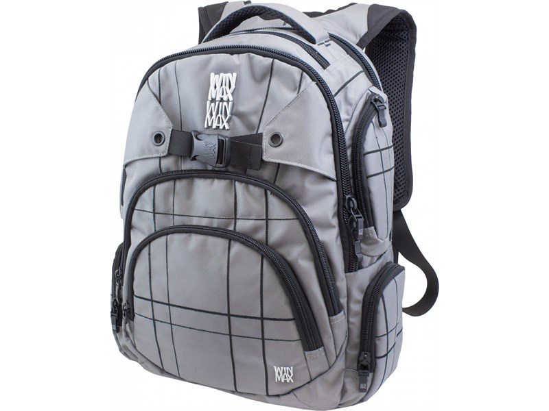 Рюкзак WinMax К-507 серый с черными полосками