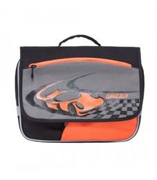 RK-997-1 рюкзак детский (/4 черный - серый - оранжевый)
