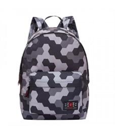 RL-850-4 Рюкзак школьный Grizzly соты серые