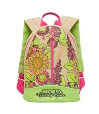 RS-665-3 рюкзак детский зеленый - бежевый