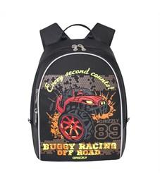 RS-734-4 Рюкзак дошкольный Grizzly черный-красный