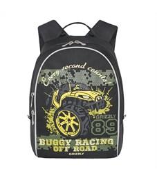 RS-734-4 Рюкзак дошкольный Grizzly черный-желтый