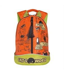 RS-759-1 Рюкзак дошкольный Grizzly оранжевый-салатовый