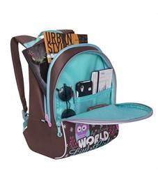 Фото 4. RS-764-2 Рюкзак дошкольный Grizzly коричневый