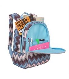Фото 4. RS-764-3 Рюкзак дошкольный Grizzly зиг-заги серо-розовые