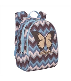 Фото 2. RS-764-3 Рюкзак дошкольный Grizzly зиг-заги серо-розовые