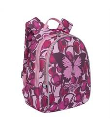 Фото 2. RS-764-3 Рюкзак дошкольный Grizzly сердечки розовые