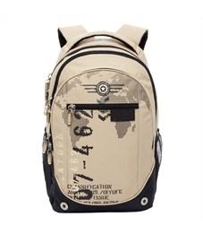 RU-501-1 Рюкзак школьный Grizzly песочный