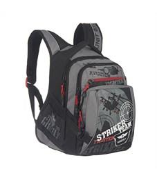 Фото 2. RU-515-2 Рюкзак школьный Grizzly черный-серый